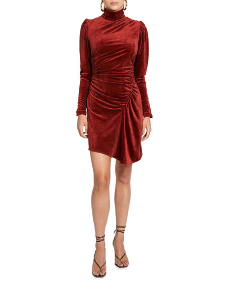 A.L.C. Marcel Long-Sleeve Corduroy Cocktail Dress