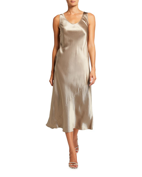 Max Mara Leisure Talete Sleeveless Satin Midi Dress