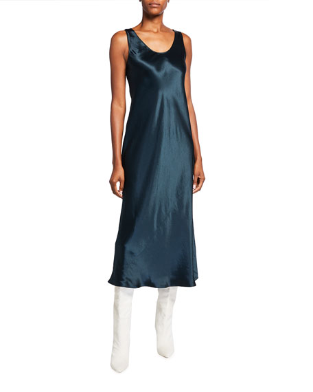 Max Mara Leisure Talete Midi Satin Slip Dress