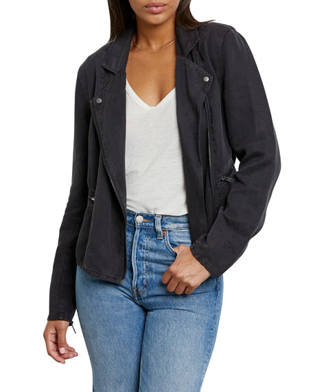 Rails Long-Sleeve Zip Moto Jacket