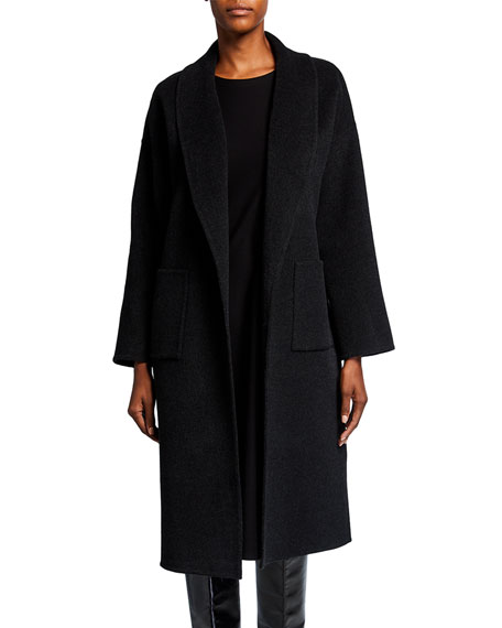 Eileen Fisher Petite Shawl Collar Wool-Cashmere Coat
