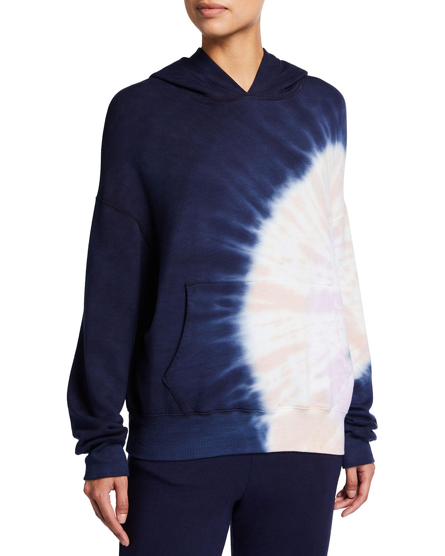 Supersoft Fleece Circular Tie-Dye Pullover