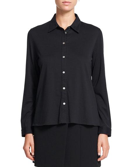 Theory Trapeze Long-Sleeve Cotton Shirt