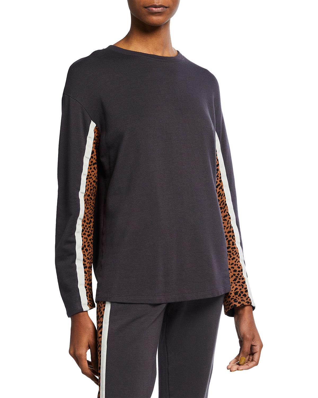 Supersoft Fleece Paneled Boyfriend Sweatshirt