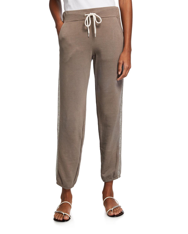 Supersoft Vintage Sweatpants w/ Glitter Side-Stripes