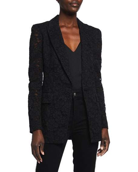 Veronica Beard Long And Lean Lace Dickey Jacket
