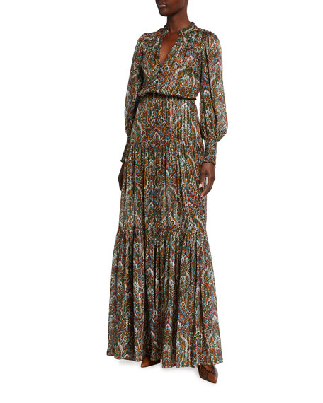 Veronica Beard Monali Paisley Maxi Dress