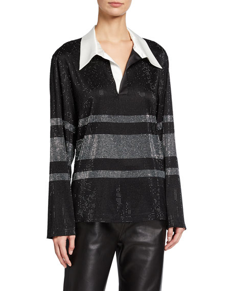 Retrofete Joie Sequined Rugby Top