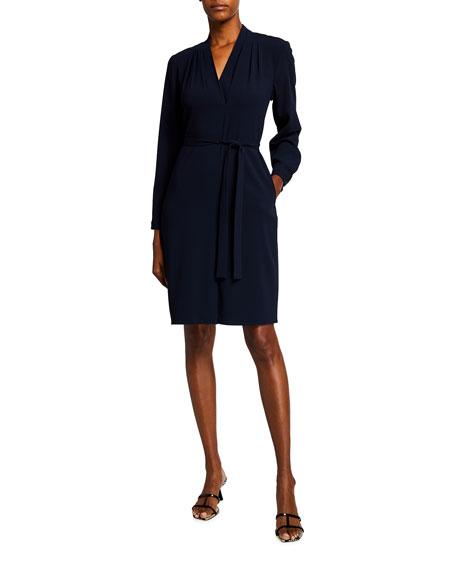 Kobi Halperin Charlee Long-Sleeve Crepe Sheath Dress