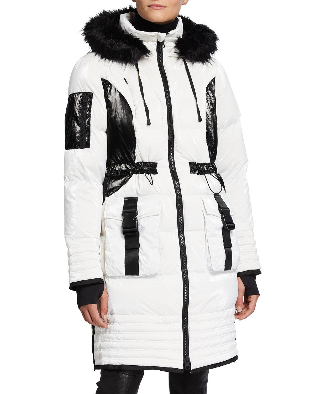 Breakthrough Bicolor Hooded Puffer Storm Coat