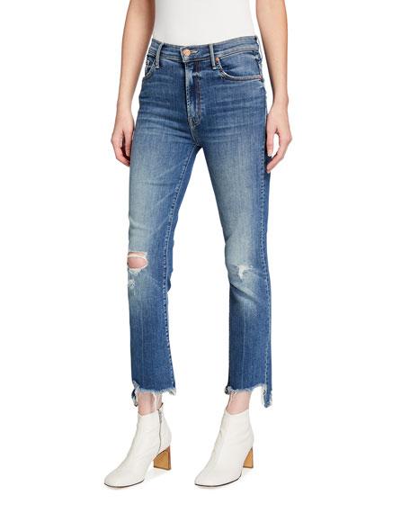 MOTHER The Insider Crop Step Chewed-Hem Jeans