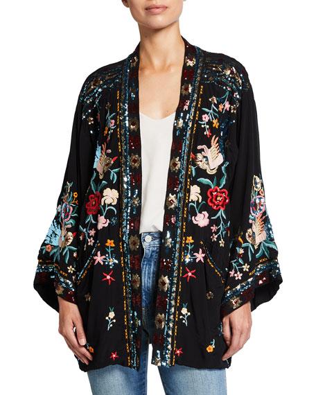 Johnny Was Hewey Sequin Embellished Kimono