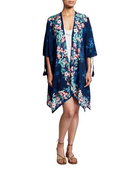 Johnny Was Annia Short Kimono Coverup