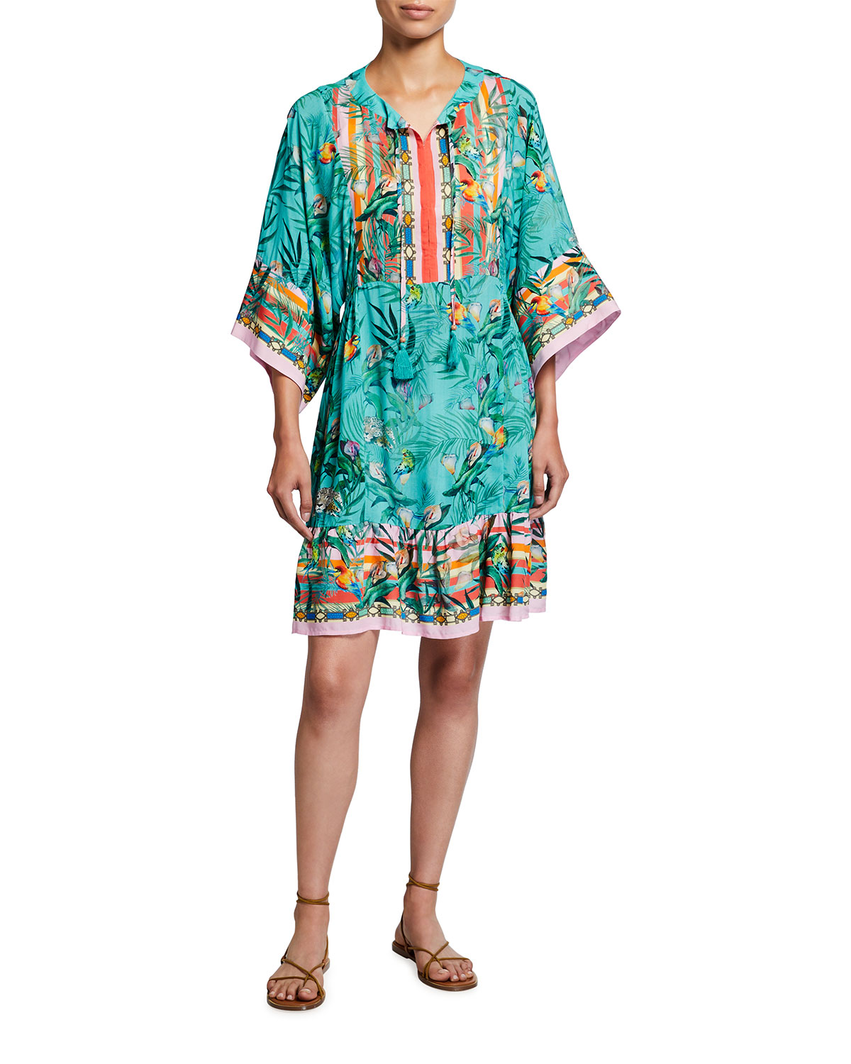 Johnny Was PLUS SIZE TAINA SHORT COVERUP DRESS
