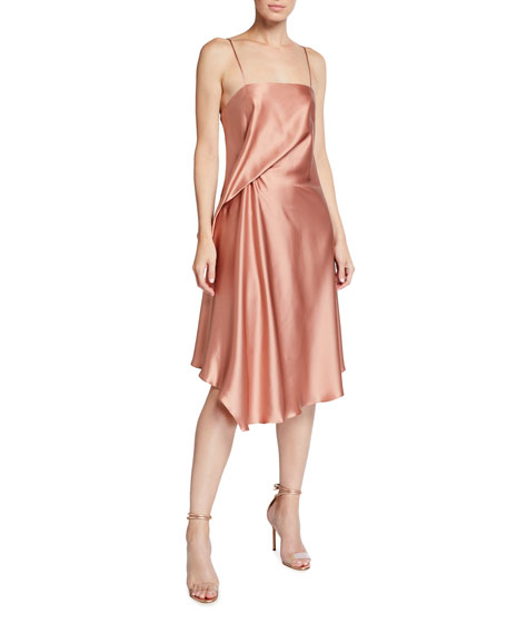 Halston Kaia Silk Slip Dress