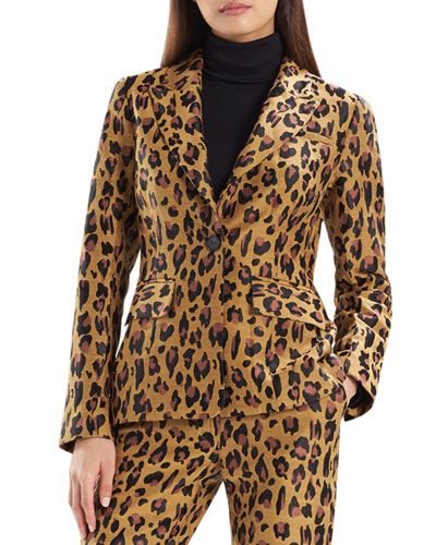 Leopard Jacquard Blazer