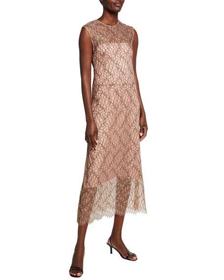 Vince Sleeveless Lace Midi Dress