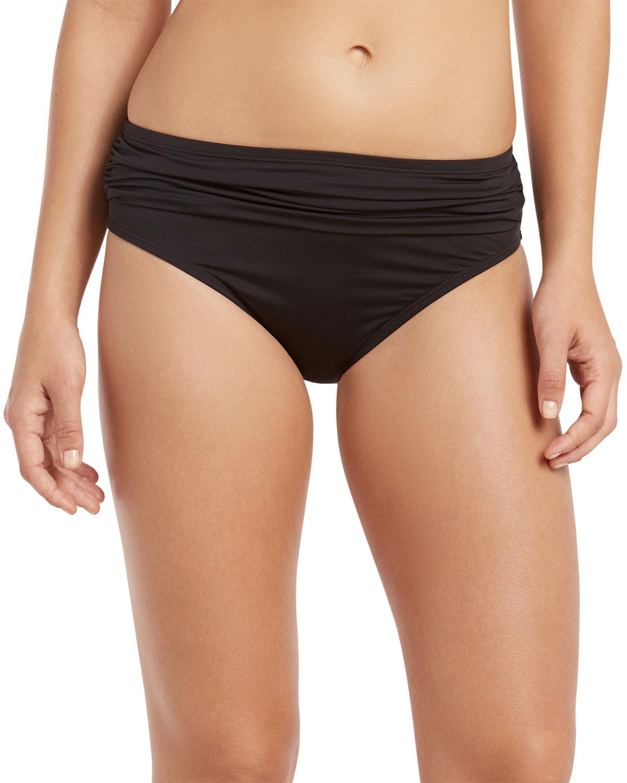 Pearl High-Waist Sash Bikini Bottom