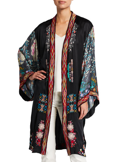 Johnny Was Faye Long Silk Kimono