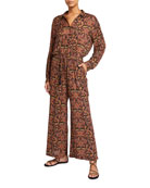 Johnny Was Violette Paisley Wide Leg Jumpsuit