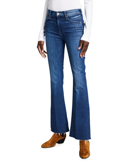 MOTHER The Weekender Frayed Flare Jeans