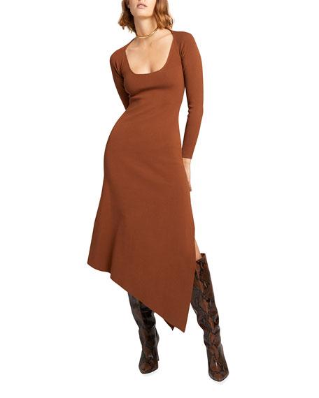 A.L.C. Harvey Long-Sleeve Asymmetric Dress
