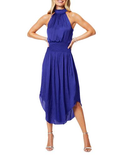 Bella Sleeveless Halter Midi Dress