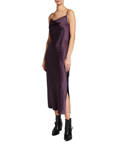 Pauline Cowl-Neck Slip Dress