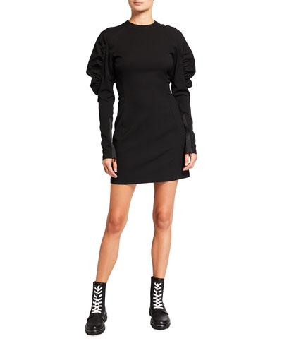 Stephanie Puff-Sleeve Mini Dress