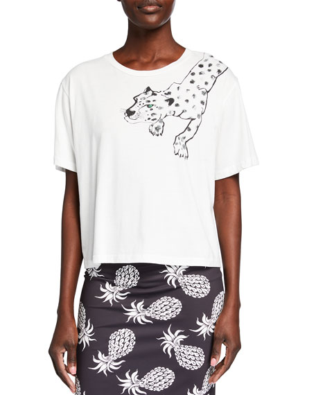 Le Superbe Painted Lil Cheetah Graphic Cotton Tee