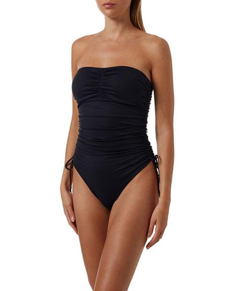 Melissa Odabash Sydney Solid Ruched Bandeau Swimsuit