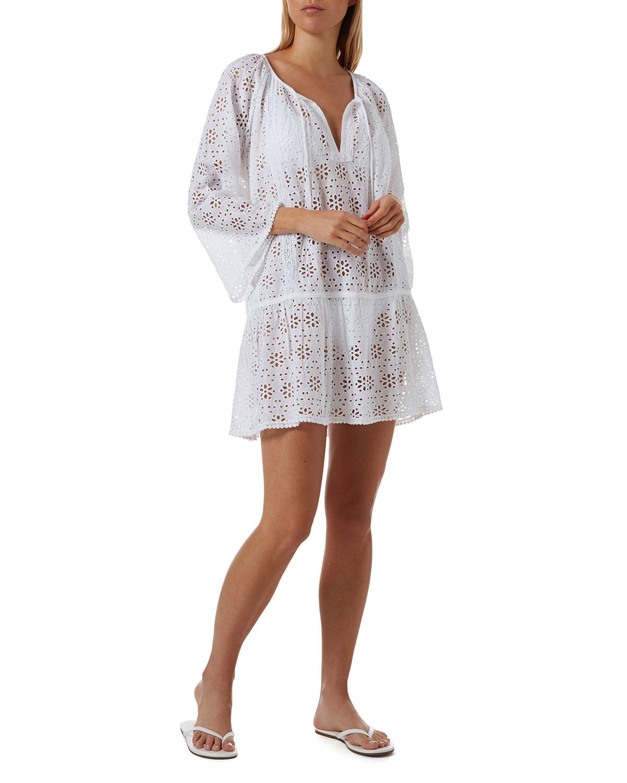 Corina Eyelet Coverup Dress