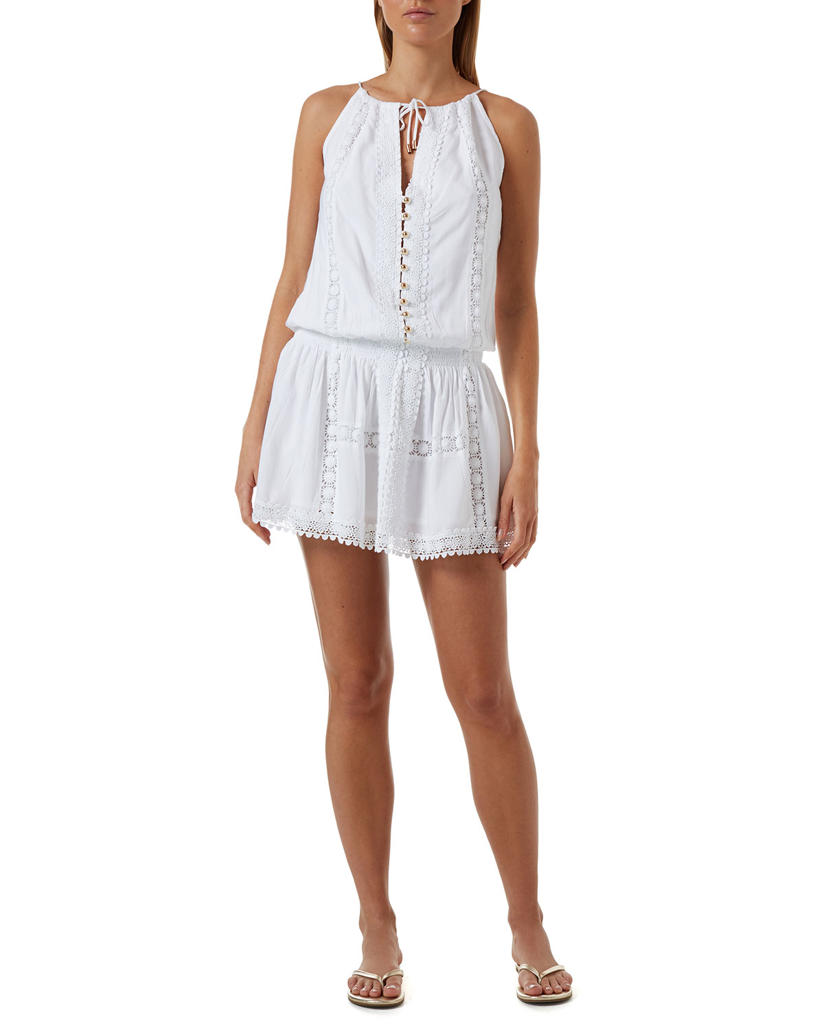 Chelsea Eyelet-Embroidered Dress
