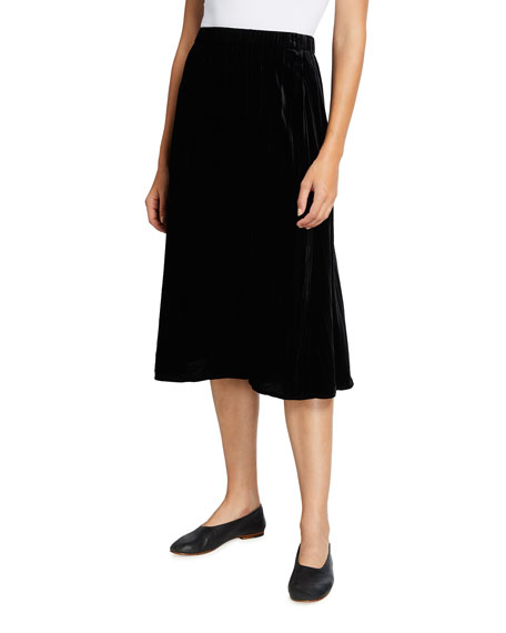 Eileen Fisher Crushed Velvet A-Line Skirt