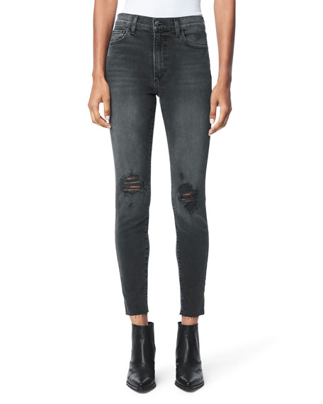 Joe's Jeans The Charlie Distressed Ankle Jeans w/ Raw Hem