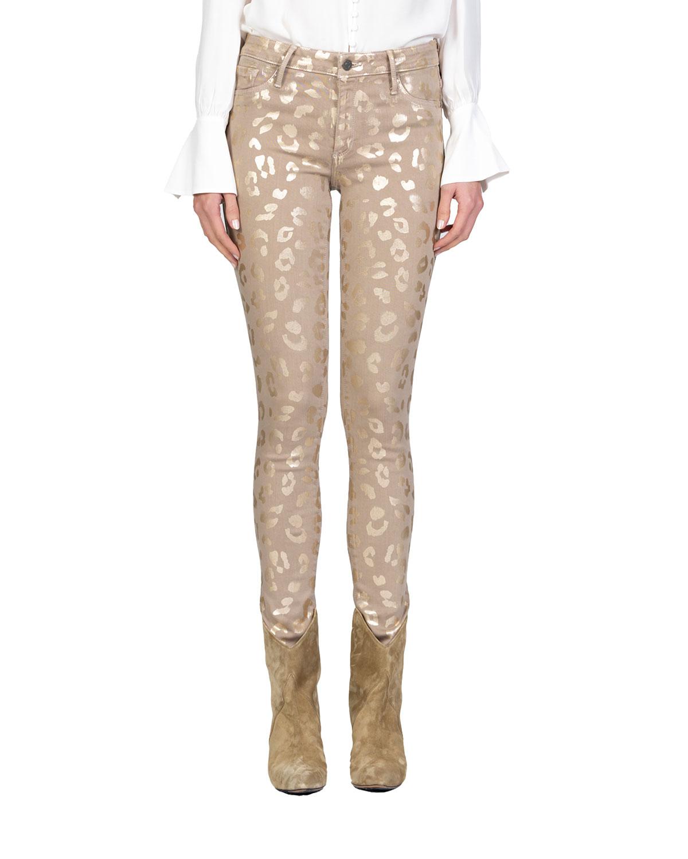 Jude Mid-Rise Leopard-Print Skinny Jeans