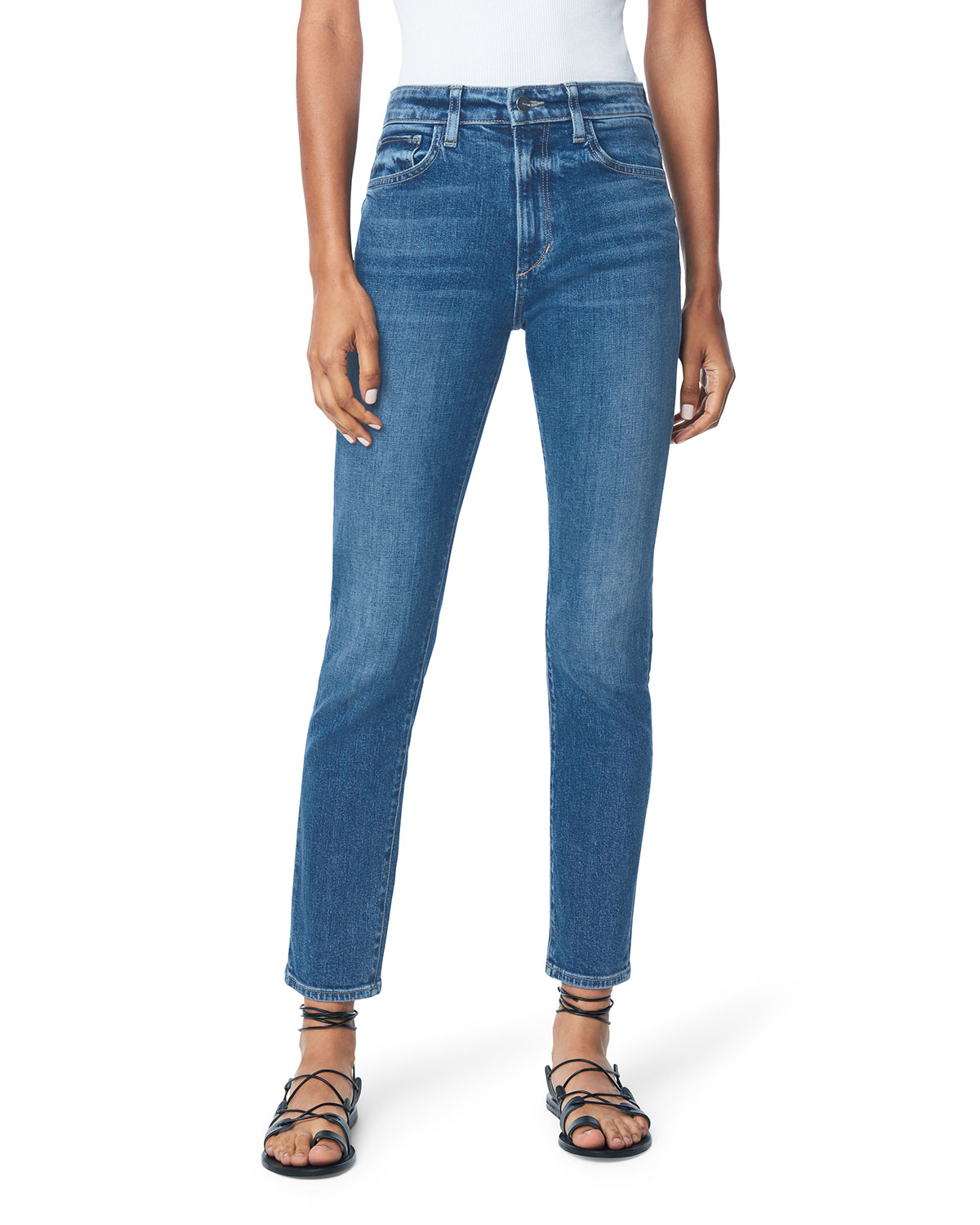 The Erin High-Rise Straight Jeans