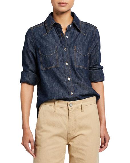 TRAVE Octavia Denim Button-Down Shirt