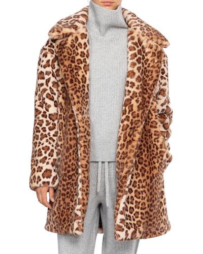 Emma Leopard-Print Coat
