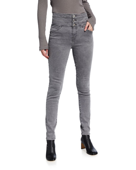 J Brand Annalie High-Rise Skinny Jeans with Triple Waistband