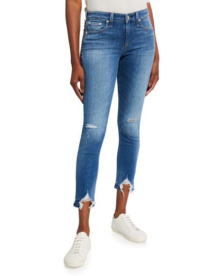 Rag & Bone Cate Mid-Rise Distressed Skinny Jeans