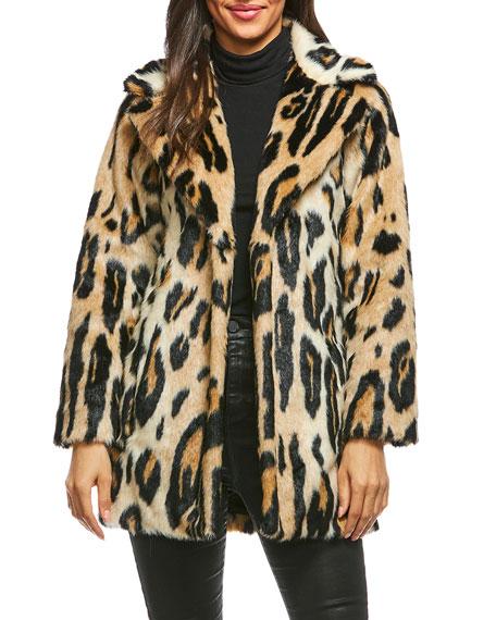 Fabulous Furs Leopard-Print Faux-Fur Coat