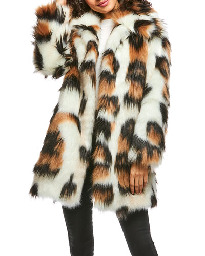 Legendary Leopard Faux-Fur Coat