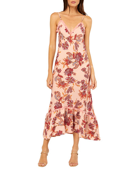 MISA Los Angeles Negin Paisley-Print Midi Dress