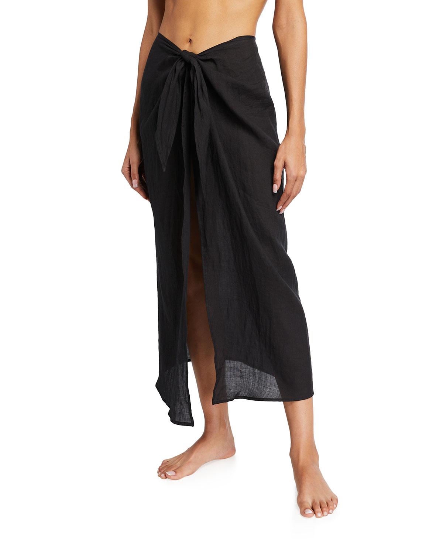 The Wrap Spanish Ramie Midi Skirt