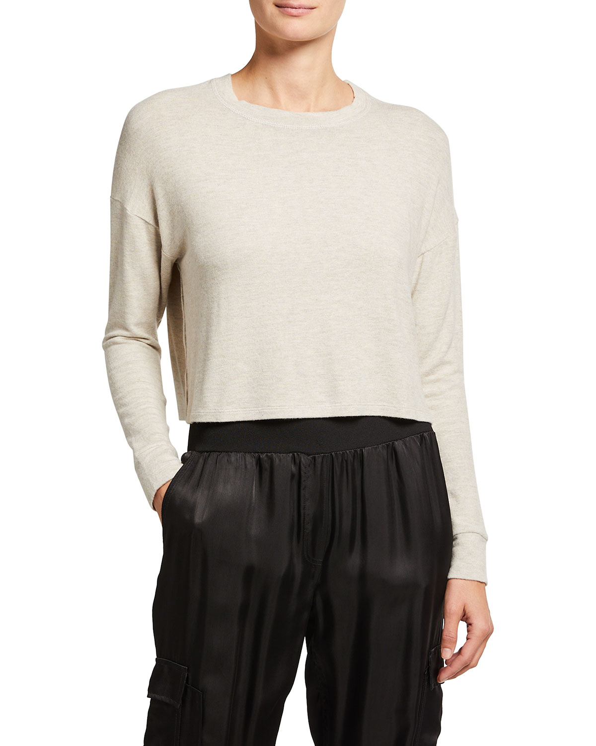 Brushed Up Cropped Pullover
