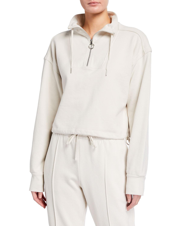 Zella Cropped Terry Sweatshirt
