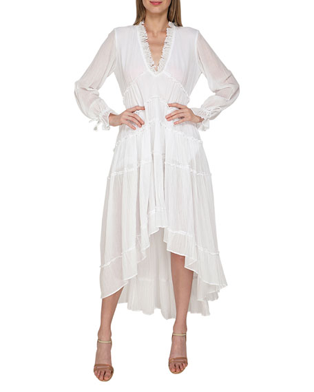 Flora Bella Omya Gauze Coverup High-Low Dress