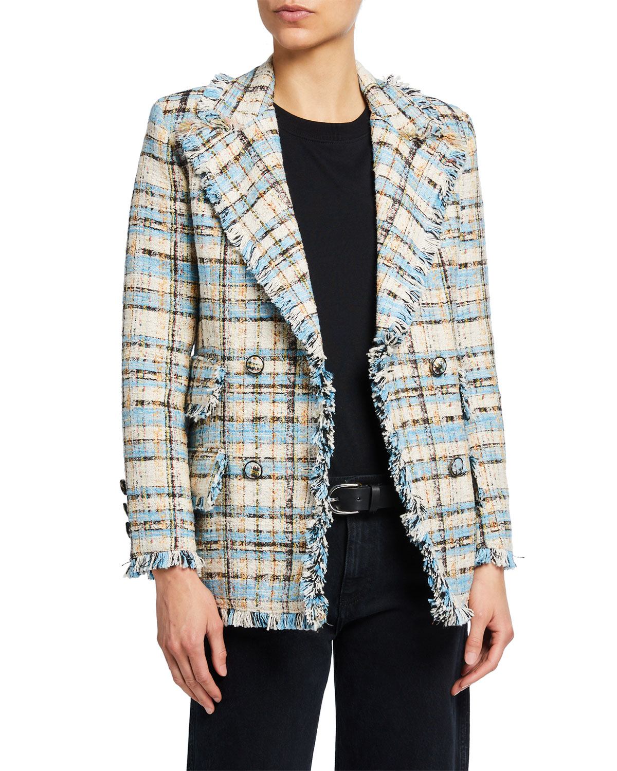 Msgm DOUBLE-BREASTED TWEED JACKET