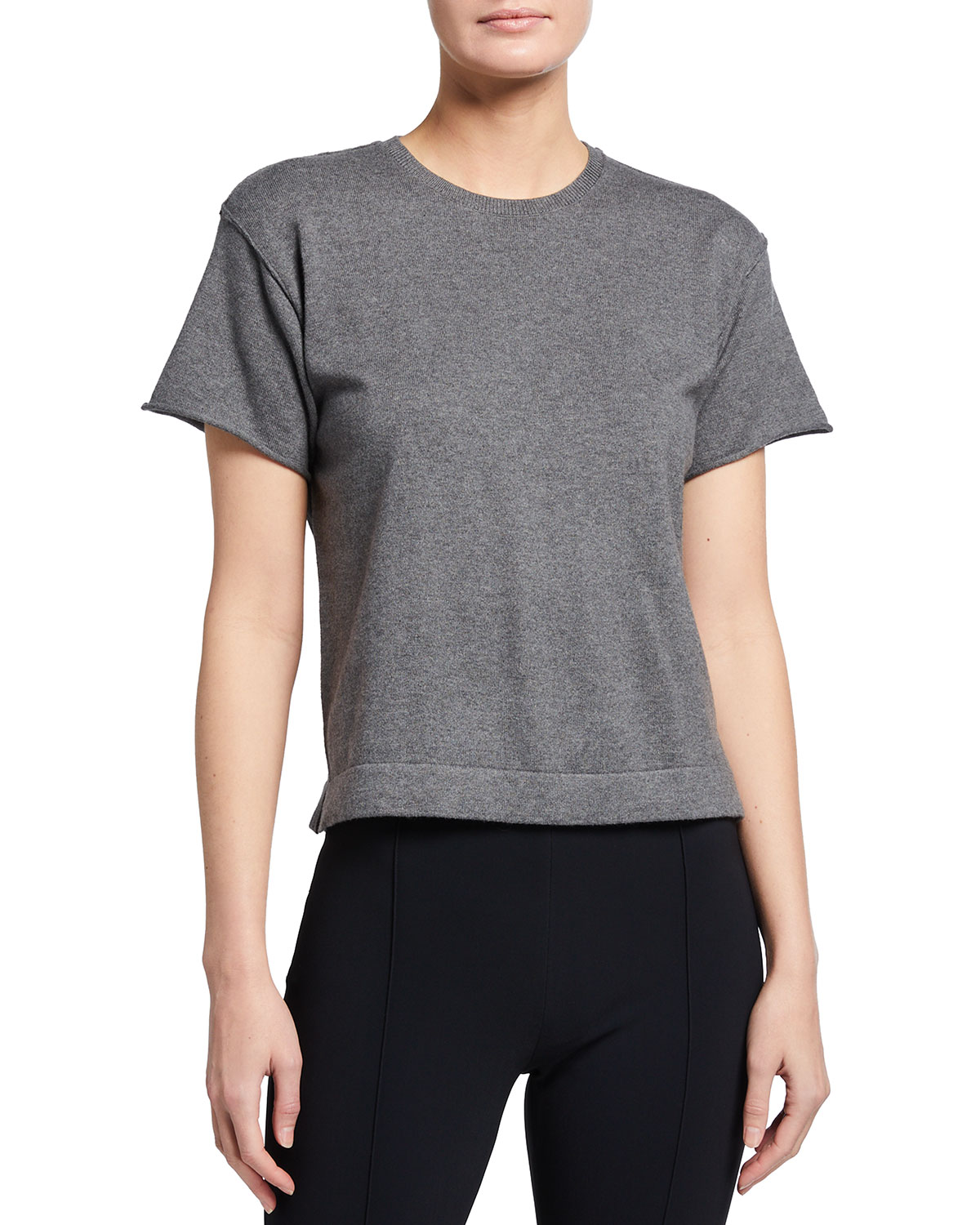 Cotton-Cashmere Sweater Tee